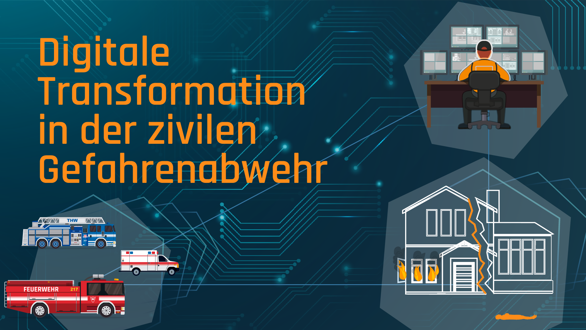 "Start der Studie ""Digitale Transformation in der zivilen Gefahrenabwehr"""