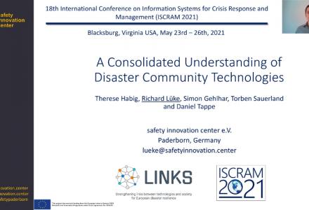 safety innovation center at ISCRAM 2021