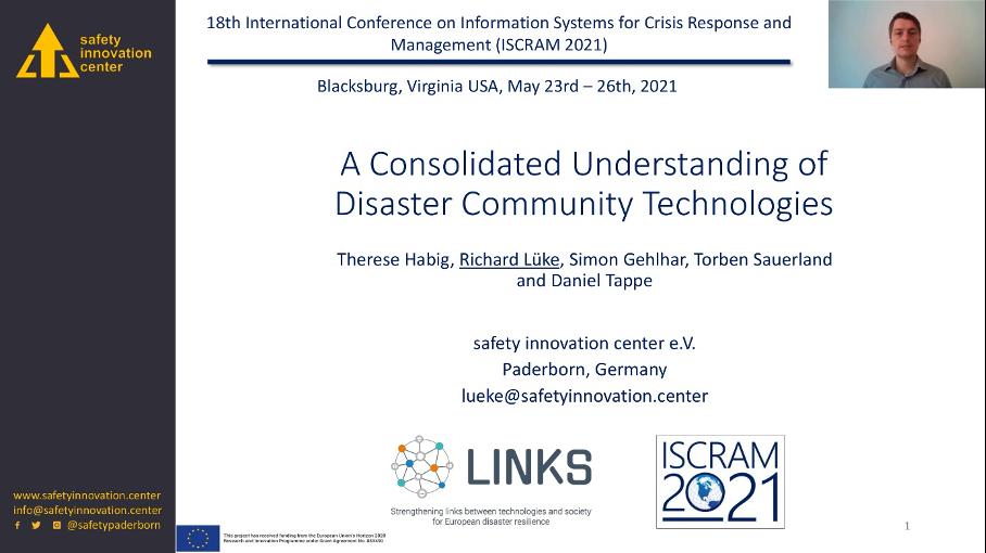 safety innovation center auf der ISCRAM 2021